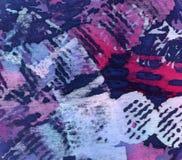 Materiell batik Shibori batiquetextur mörk paper vattenfärgyellow för forntida bakgrund Royaltyfri Bild