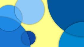 Materiell design, abstrakt bakgrund med olika nivåyttersidor och cirklar, materiell design Arkivfoto