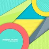 Materiell designbakgrund för vektor Abstrakt idérik begreppsorienteringsmall För rengöringsduken och mobilen app, pappers- konst Royaltyfri Fotografi