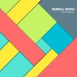 Materiell designbakgrund för vektor Abstrakt idérik begreppsorienteringsmall För rengöringsduken och mobilen app, pappers- konst Arkivbild