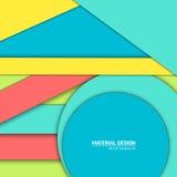 Materiell designbakgrund för vektor Abstrakt idérik begreppsorienteringsmall För rengöringsduken och mobilen app, pappers- konst Arkivfoton