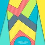 Materiell designbakgrund för vektor Abstrakt idérik begreppsorienteringsmall För rengöringsduken och mobilen app, pappers- konst Arkivfoto