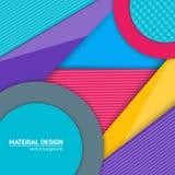 Materiell designbakgrund för vektor Abstrakt idérik begreppsorienteringsmall För rengöringsduken och mobilen app, pappers- konst Royaltyfri Bild