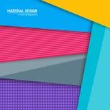 Materiell designbakgrund för vektor Abstrakt idérik begreppsorienteringsmall För rengöringsduken och mobilen app, pappers- konst Royaltyfria Bilder