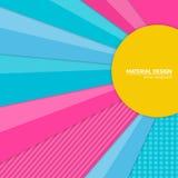 Materiell designbakgrund för vektor Abstrakt idérik begreppsorienteringsmall För rengöringsduken och mobilen app, pappers- konst Royaltyfri Foto