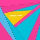 Materiell designbakgrund för vektor Abstrakt idérik begreppsorienteringsmall För rengöringsduken och mobilen app, pappers- konst Arkivbilder