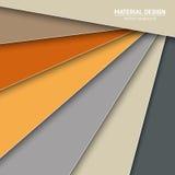 Materiell designbakgrund för vektor Abstrakt idérik begreppsorienteringsmall För rengöringsduken och mobilen app, pappers- konsti royaltyfri illustrationer