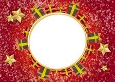 Materiella julgrangåvor Arkivbild