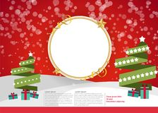 Materiella julgrangåvor Arkivfoton