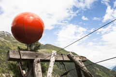 Materielle Seilweise für Gebirgshüttenversorgung Lizenzfreies Stockbild