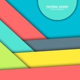 Materieller Designhintergrund des Vektors Abstrakte kreative Konzeptplanschablone Für Netz und bewegliche APP Papierkunst Lizenzfreie Stockfotos