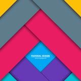 Materieller Designhintergrund des Vektors Abstrakte kreative Konzeptplanschablone Für Netz und bewegliche APP Papierkunst Stockfotos