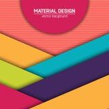 Materieller Designhintergrund des Vektors Abstrakte kreative Konzeptplanschablone Für Netz und bewegliche APP Papierkunst Lizenzfreies Stockbild