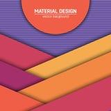 Materieller Designhintergrund des Vektors Abstrakte kreative Konzeptplanschablone Für Netz und bewegliche APP Papierkunst Lizenzfreies Stockfoto