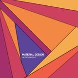 Materieller Designhintergrund des Vektors Abstrakte kreative Konzeptplanschablone Für Netz und bewegliche APP Papierkunst Stockfotografie