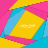 Materieller Designhintergrund des Vektors Abstrakte kreative Konzeptplanschablone Für Netz und bewegliche APP Papierkunst Lizenzfreie Stockfotografie