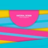 Materieller Designhintergrund des Vektors Abstrakte kreative Konzeptplanschablone Für Netz und bewegliche APP Papierkunst Stockfoto