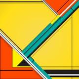 Materielles Design des modernen Rechtecks des Hintergrundes geometrisch Abstrakter kreativer Konzeptdesignvektor Lizenzfreie Stockbilder