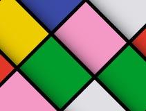 Materielles Design Geometrisches modisches Design Mosaik der Zusammenfassung 3D Anwendbar für Abdeckungen, Poster, Flieger, Fahne vektor abbildung