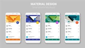 Materielles UI sortiert Modellausrüstung aus lizenzfreie abbildung