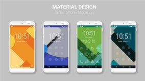 Materielles UI sortiert Modellausrüstung aus stock abbildung