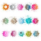 Materielvektor av planettecknet Astrologiskt symbol Arkivbild