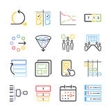 Materielvektorillustration: Lättrörlig symbolsuppsättning Fotografering för Bildbyråer