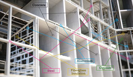 materils infographics здания Стоковые Изображения RF