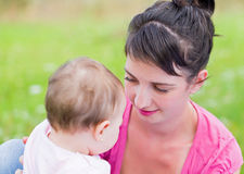 Maternal attachment Stock Images