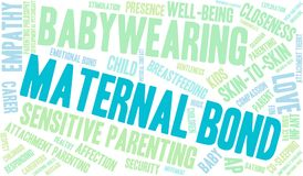 Maternal Bond Word Cloud. On a white background Stock Photography