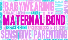Maternal Bond Word Cloud. On a white background Royalty Free Stock Images