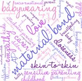 Maternal Bond Word Cloud. On a white background Royalty Free Stock Photos