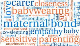 Maternal Bond Word Cloud. On a white background Stock Image