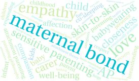 Maternal Bond Word Cloud. On a white background Royalty Free Stock Photography