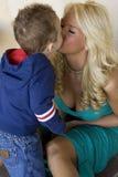 maternal förälskelse Arkivbilder