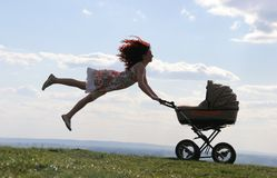 Maternal flight Royalty Free Stock Photography