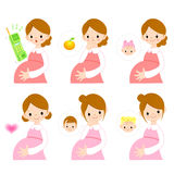 The maternal prenatal education sons and daughters. Marriage and Royalty Free Stock Image