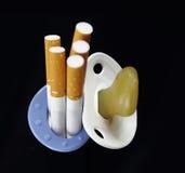 Maternidad y el fumar Foto de archivo libre de regalías