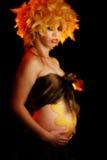 Maternità artistica fotografie stock