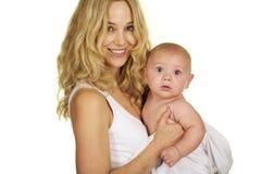 Maternité entre deux âges Image libre de droits