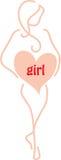 Maternité-fille Photographie stock libre de droits