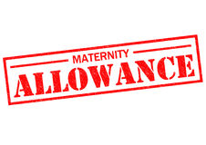 MATERNITY ALLOWANCE. Red Rubber Stamp over a white background Royalty Free Stock Photography