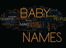 Maternity Celeb Baby Names Text Background  Word Cloud Concept Stock Photography