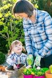 maternity dottergyckel som har modern tillsammans Fotografering för Bildbyråer