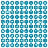 100 maternity leave icons sapphirine violet. 100 maternity leave icons set in sapphirine hexagon isolated vector illustration Royalty Free Stock Photo