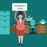 Maternity leave parental pregnant woman get paid during pregnancy absent Stock Images