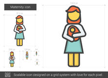 Maternity line icon. Royalty Free Stock Photography
