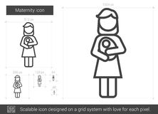Maternity line icon. Stock Image