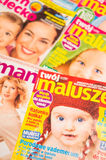 Maternity magazines Royalty Free Stock Images
