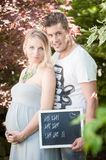 Maternity Photo Shooting Royalty Free Stock Images